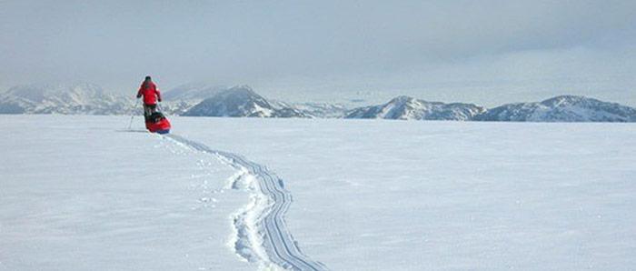 Alleine in der Antarktis