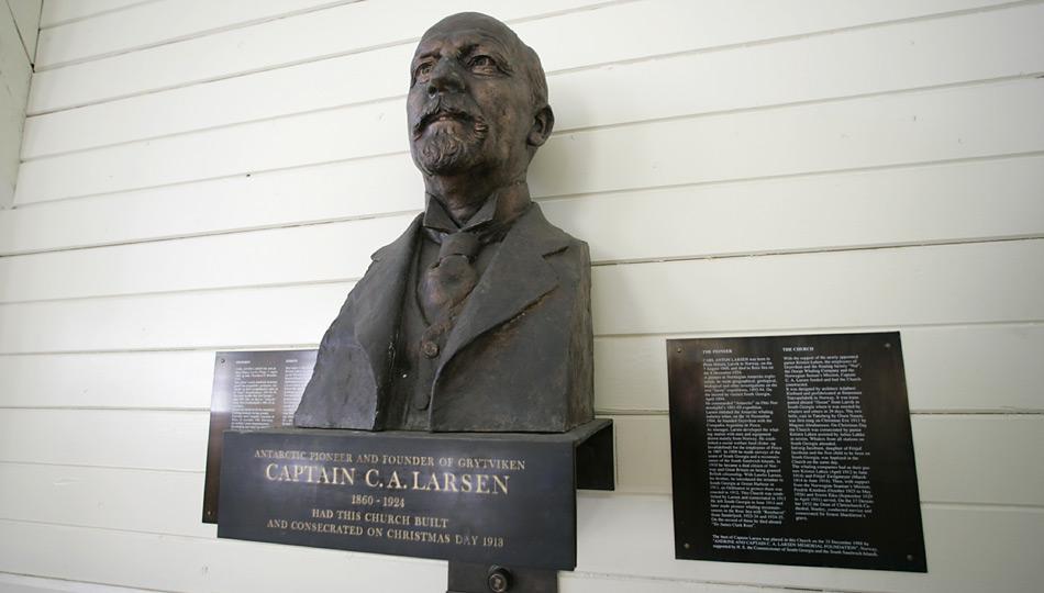 Grytviken wurde im November 1904 vom Norweger Carl Anton Larsen gegründet und diente mehr als 50 Jahre lang als industrielle Basis für Walfang und -verarbeitung.