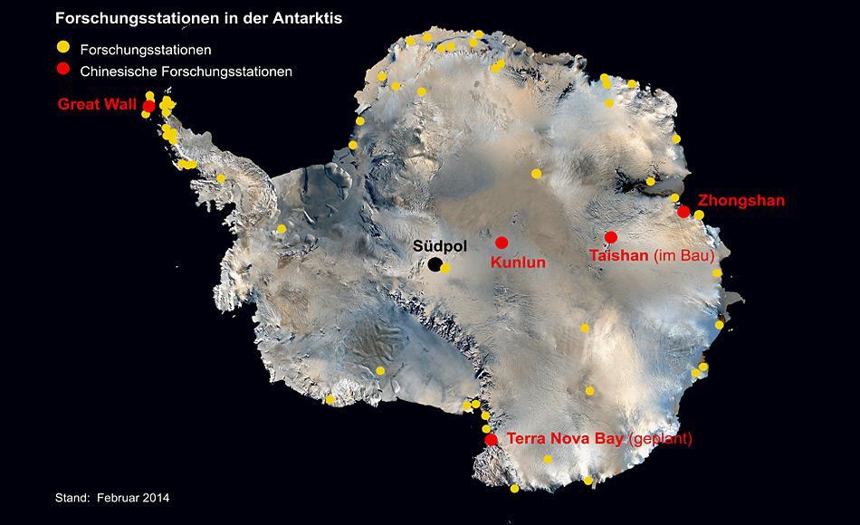 Forschungsstationen in der Antarktis