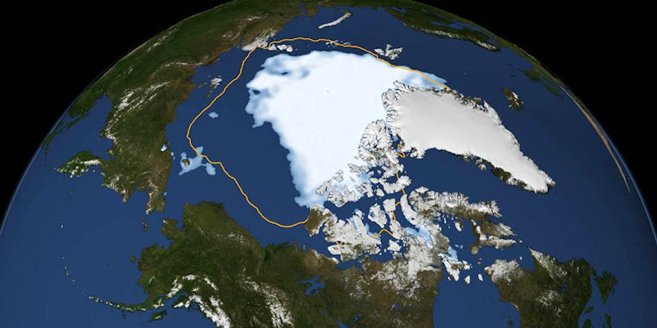 Am Ende des Sommers 2012 erreichte das arktische Meereis einen absoluten Tiefstwert, was Ausdehnung und Dicke anbelangte. Doch dieses Ereignis stand nicht allein, sondern wiederholt sich mittlerweile jedes Jahr in unterschiedlichem Ausmass. Bild: NASA Goddard Space Flight Center