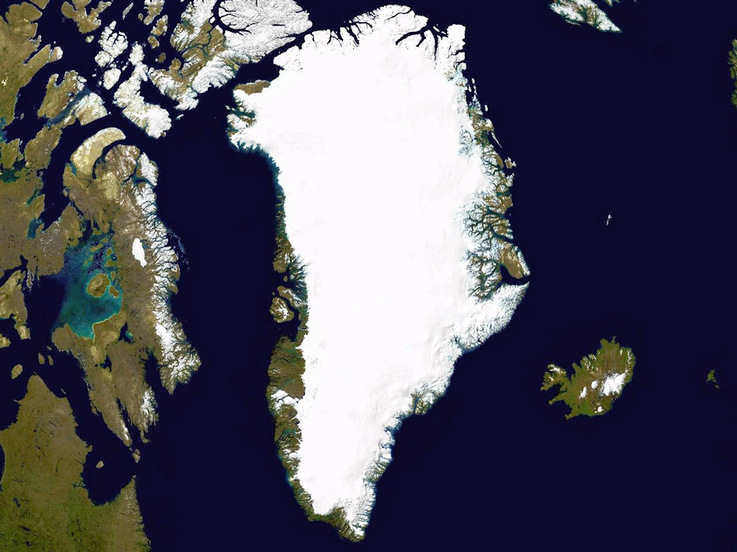 Der grönländische Eisschild ist die zweitgrösste Eisansammlung der Welt- Sie erstreckt sich