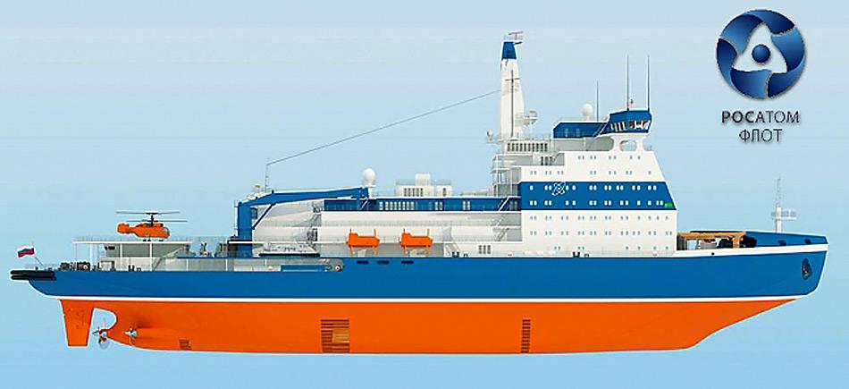 Die Flaggschiffe der russischen Atomeisbrecher-Flotte werden mit einer Leistung von 81'000 PS die Dominanz der Russen in der Arktis aufzeigen.