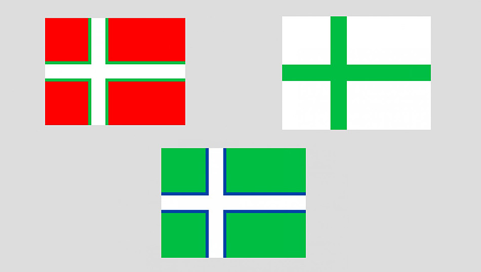 Die ursprünglichen Vorschläge waren alle eine Hommage an die restlichen nordischen Flaggen und eine Bindung an den dänischen Staat. Doch aufgrund der Geschichte Grönlands wurde ein unabhängiges und eher repräsentatives Design gewählt.