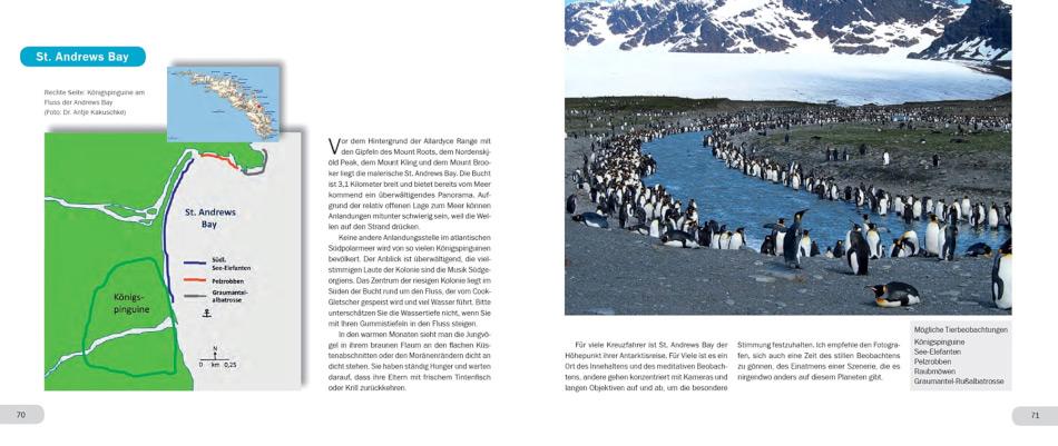 Im zweiten Teil des Buches stellt der Autor die verschiedenen Landestellen vor, die auf den Reisen angelaufen werden können. Dabei helfen Übersichts- und Detailkarten dem Leser bei der Orientierung.