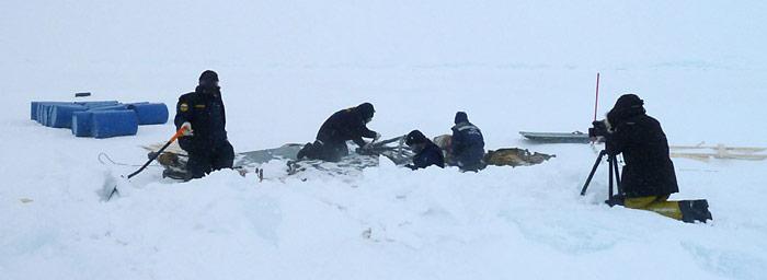 Schwierige Dreharbeiten am Nordpol