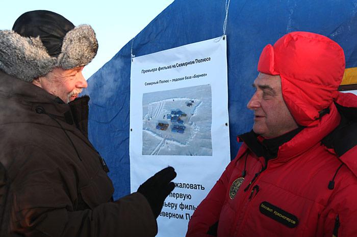 Heiner Kubny im Gespräch mit Mikhail Krasnoperov.